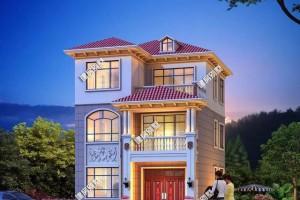 小面宽农村房屋设计效果图,平屋顶设计室外晾晒太便利。