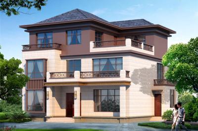 农村现代新中式三层别墅设计图,复式独栋自建房
