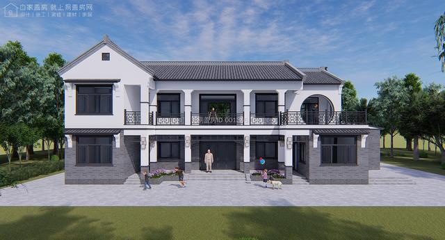 露台+花房的中式别墅设计效果图,造型丰富而协调。