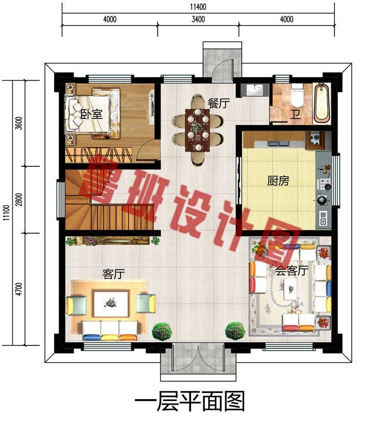 大气三层新中式豪宅别墅设计图,别墅外观沉稳高端