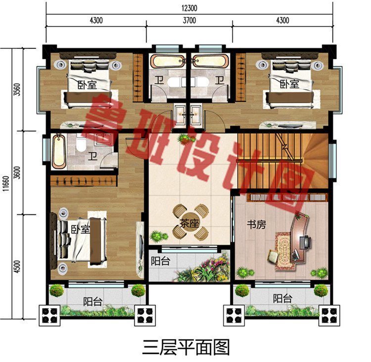 新款四层别墅图片大全及设计图,外观大方配置齐全。