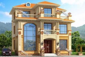 2栋漂亮别墅三层设计效果图,很多人来仿建。
