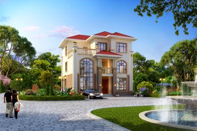 三层豪华欧式别墅图片及全套设计图,农村豪宅方案图