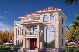 简欧式风格三层别墅设计图纸,外观布局都很好。
