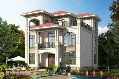 低调沉稳三层欧式别墅设计图,素雅清新,端庄大气。