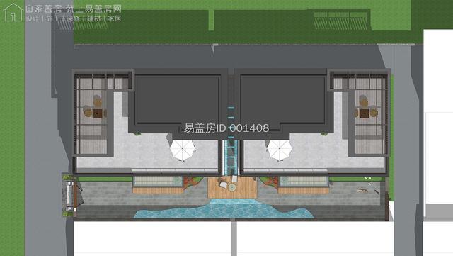 北京易盖房房山独栋气势款新中式双拼别墅看的都说靠谱哦