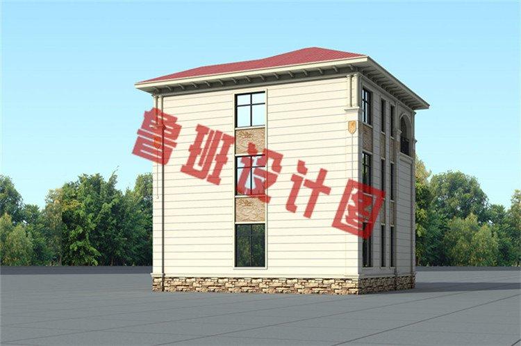 低调沉稳三层欧式别墅设计背面图