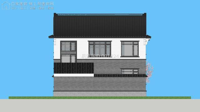 喜欢中国风的有福了!面宽10.6米、带院子的中式别墅送给你