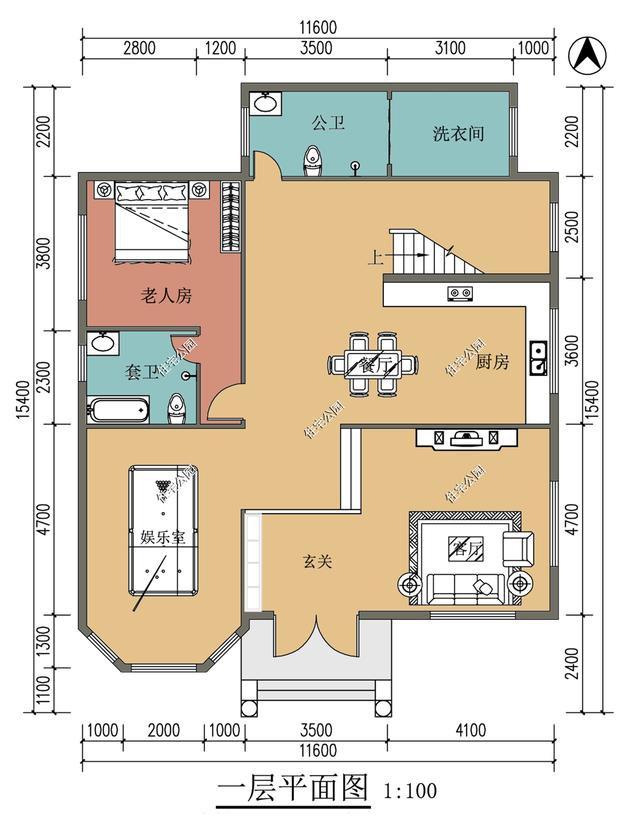 吴先生回村建新房,400多平的三层别墅,为啥北面却没有窗户?