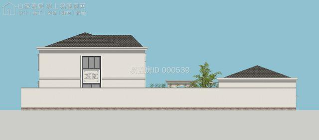 欧式别墅,起居室采用大落地窗,室内赏景室外晾晒都能在二层实现