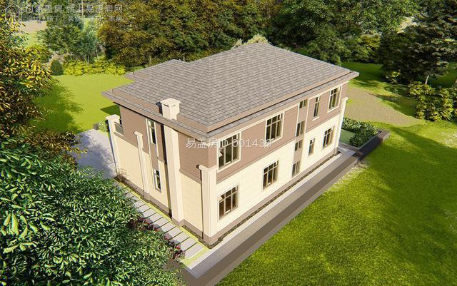 二层400平二层新中式别墅设计图