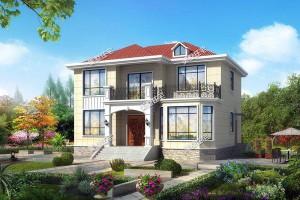 四款欧式2层别墅外观效果图,外观时尚,布局实用合理。