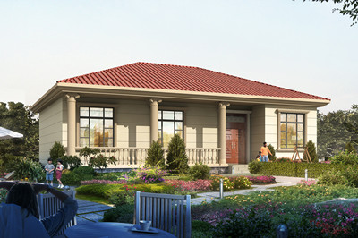 140平方米一层欧式简单新农村小楼房设计图,造价11万
