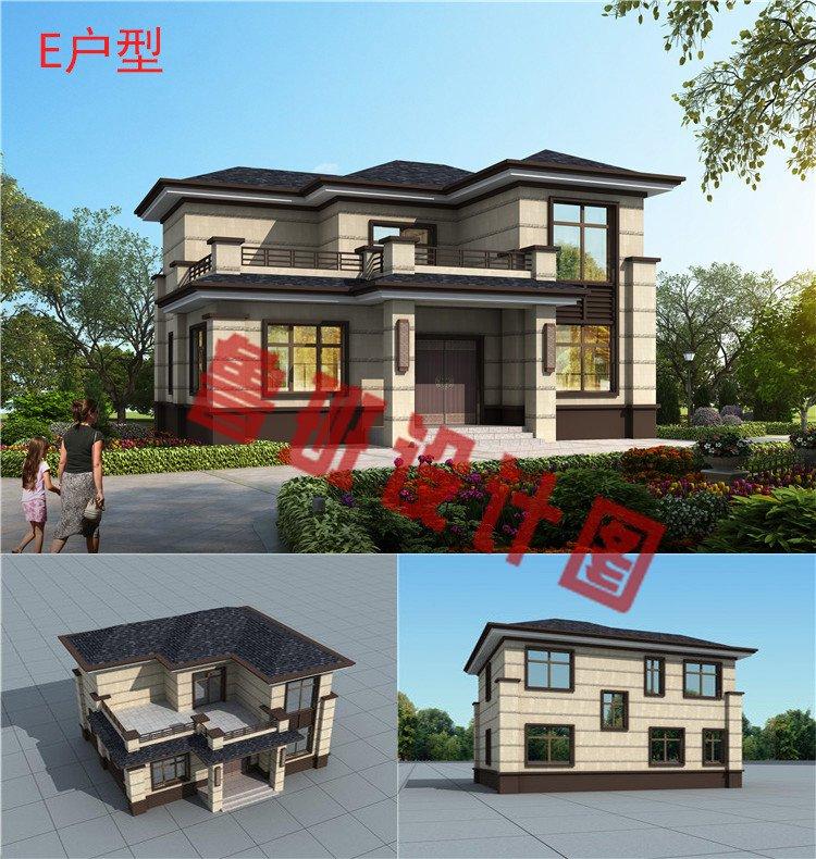 新中式二层别墅设计图