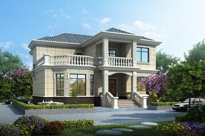 占地170平方米二层新农村自建房别墅方案设计图,经济又时尚
