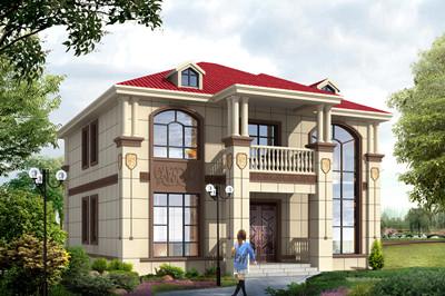 13米面宽二层新农村经济别墅图片及全套设计图,功能实用