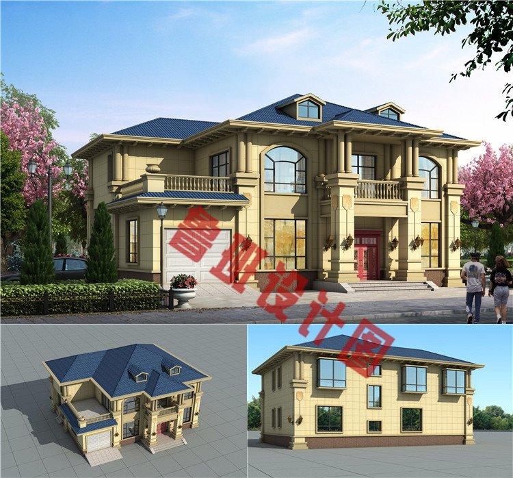 两层欧式农村别墅设计图