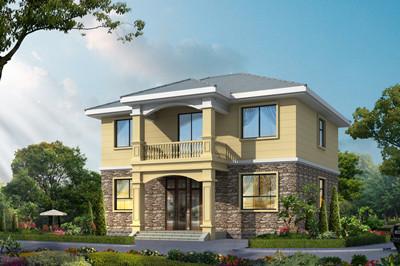 简单又实用二层乡村自建房户型设计图,占地136平左右