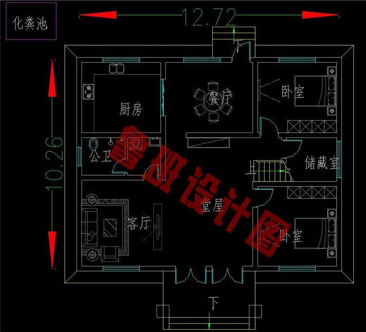 二层欧式别墅一层设计图