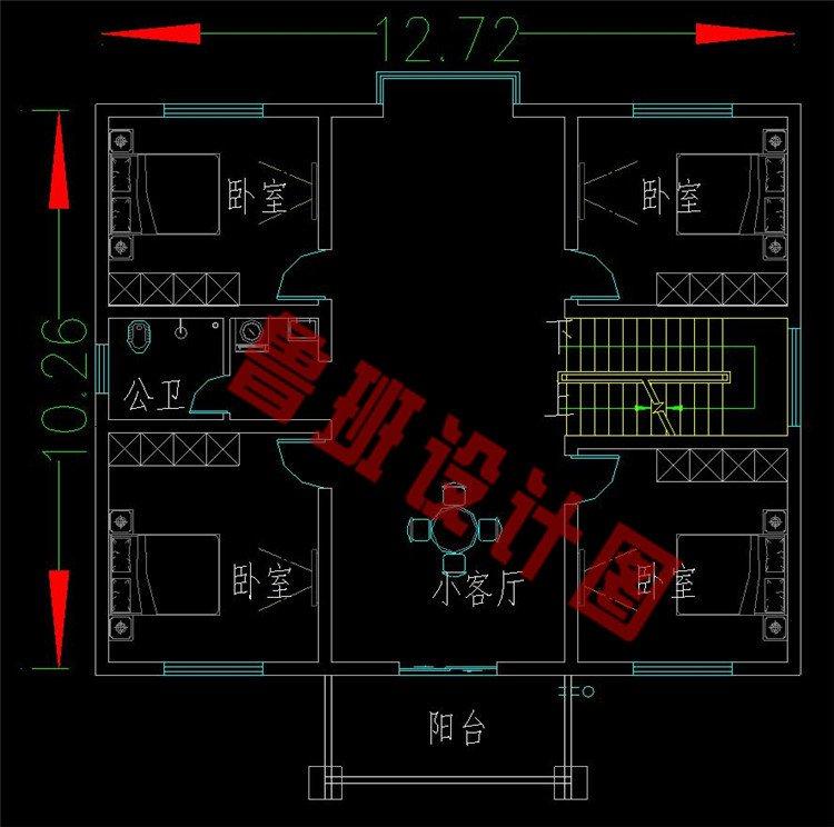 二层欧式别墅二层设计图