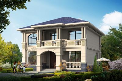 开间12米左右的二层简欧风格别墅设计图,户型方正
