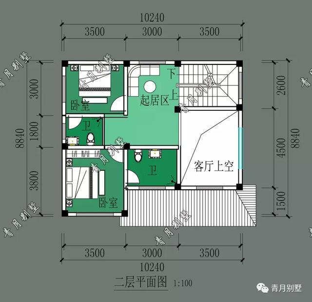 10×8.84米三层乡村小别墅,小面宽小进深一样建漂亮房子