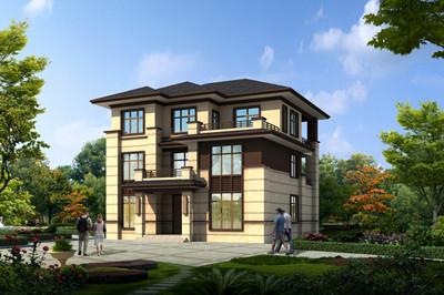 造价40万的三层新中式别墅图纸,旋转楼梯挑空客厅