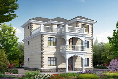 简单的农村三层房子自建楼设计图,外观简约大气