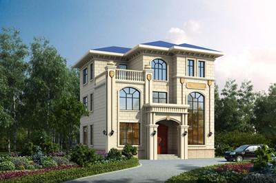 三层经典盖别墅户型设计,简欧乡间小楼房全套施工图