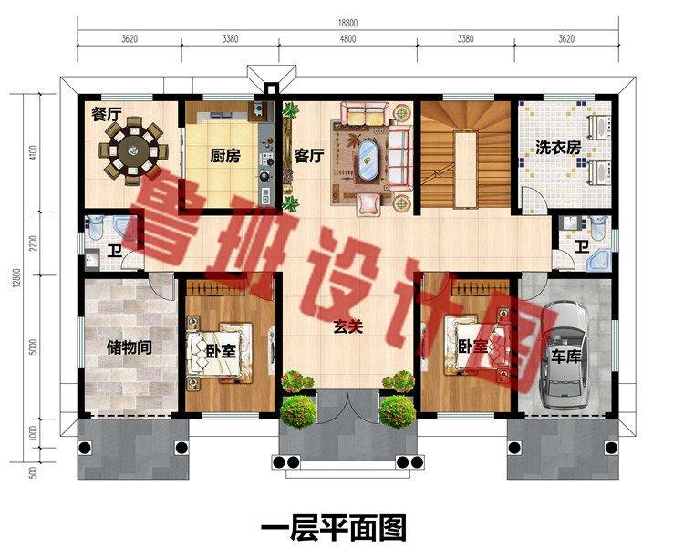 大户型三层豪华欧式别墅设计图,带地下室和车库