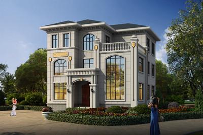 带地下层的三层欧式自建房子设计图,面宽12米
