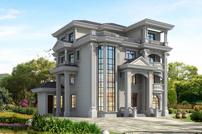 四层欧式农村别墅楼,带土灶房,复式客厅设计