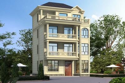 占地90平方米四层欧式别墅设计效果图,布局实用,外观好看