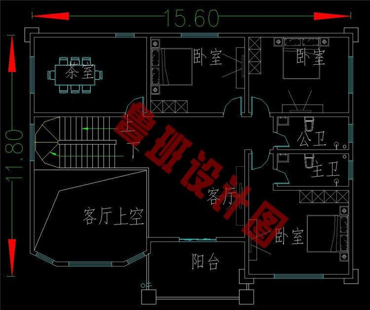四层农村房子二层设计图