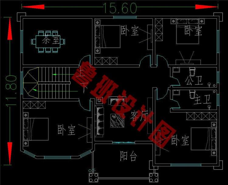 四层农村房子三层设计图