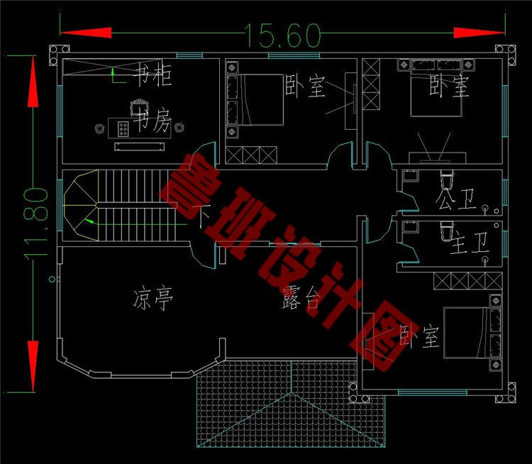 四层农村房四层设计图