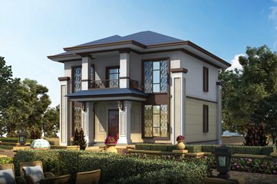 中式两层住宅设计图建别墅方案,造价21万左右