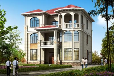 50万欧式三层楼别墅设计方案,高端大气上档次