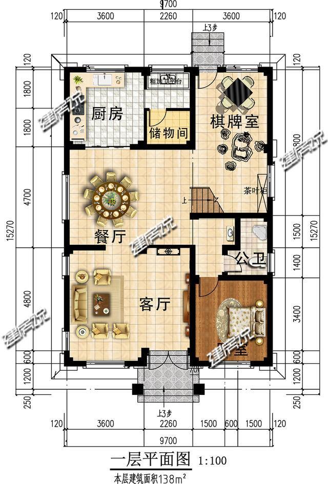 面宽9米的新中式别墅,60年经验的风水大师看了连连夸赞