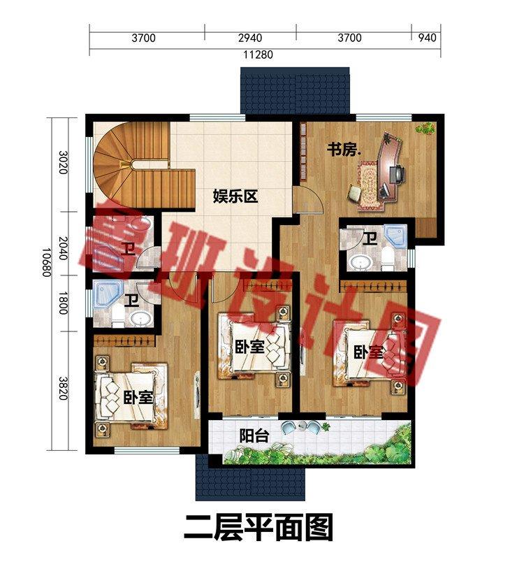 13万-18万二层新中式小楼设计图,简约而不简单