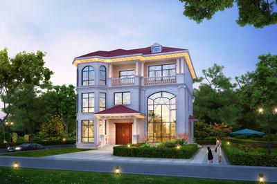 带地下室三层别墅设计图(整体4层),160平米,农村自建房首选!