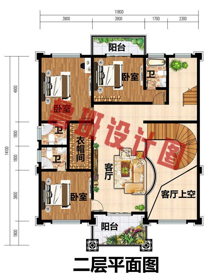 四层欧式高端农村别墅设计图