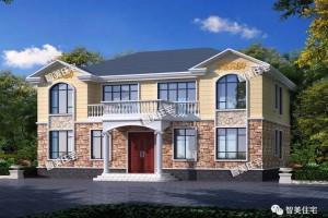 两种风格的双拼别墅图纸,造型都是偏简约类型的。