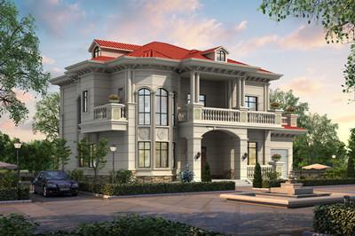 农村漂亮二层欧式别墅设计图,大户型方案180平