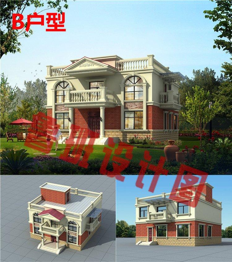 农村二层平屋顶别墅设计图