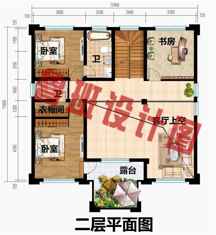 简欧式四层农村别墅房屋设计图