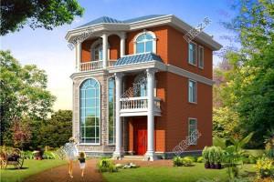 农村三层别墅设计方案,宅基地再小也能建出来气派的房子。