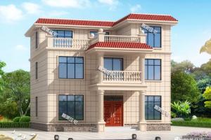12米三层别墅设计图纸,第一栋平屋面施工易。