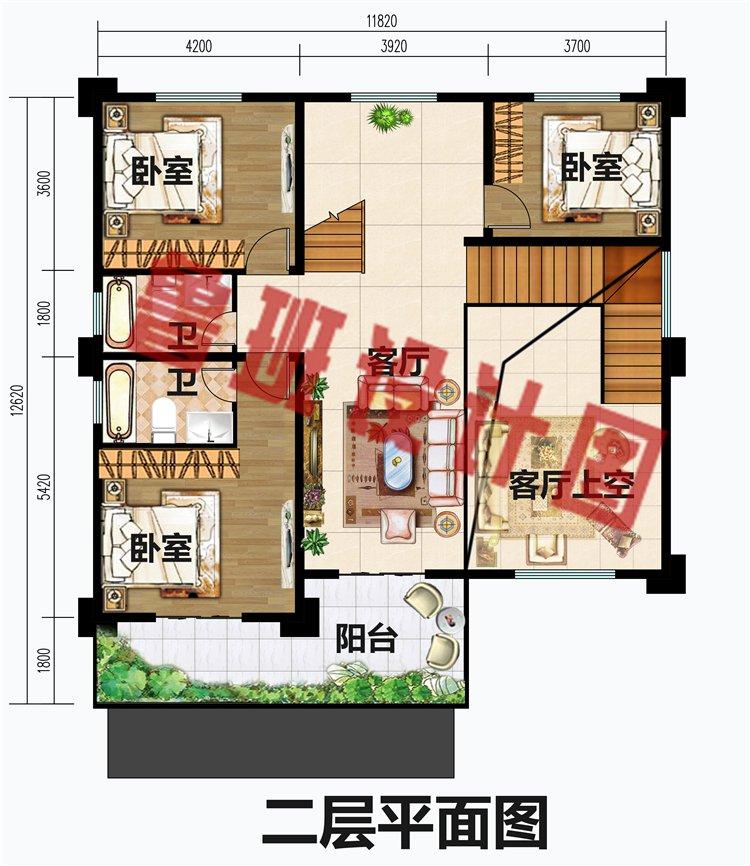 三层现代平顶别墅