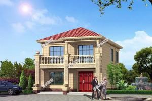 农村小别墅设计效果图,主体造价23万,外观美布局好。